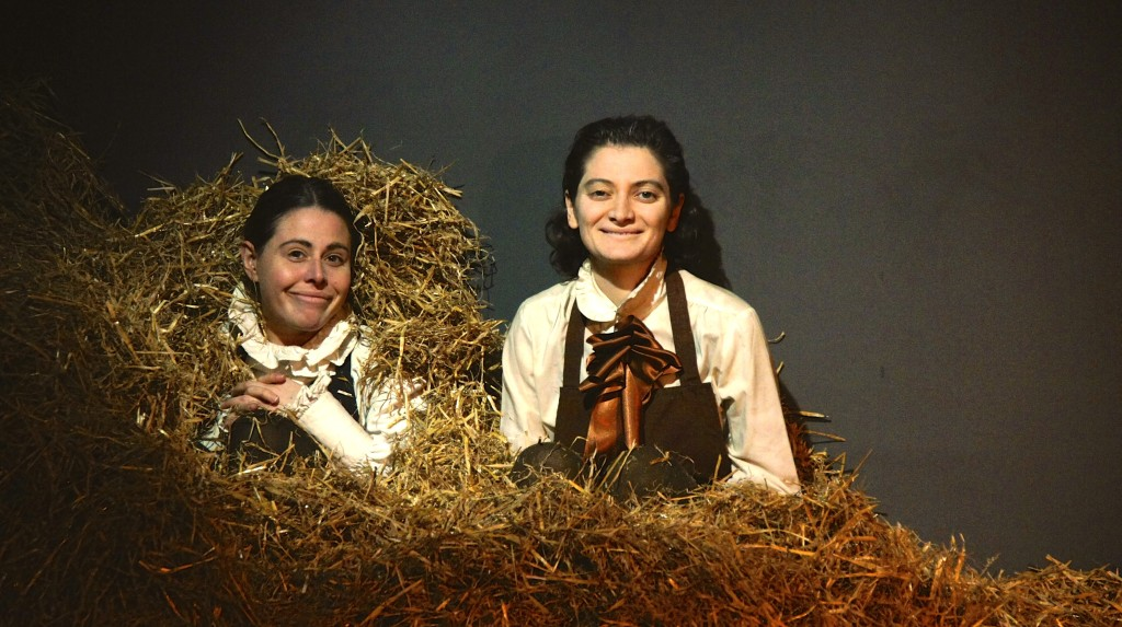 Emily and Miné in the hay - A HUNGER SUITE